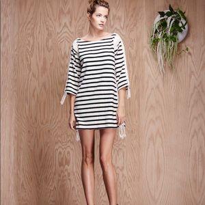 Anthropologie Pepin Breton Crochet Stripe Dress
